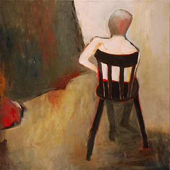One Chair - painting by Leonore Johnston